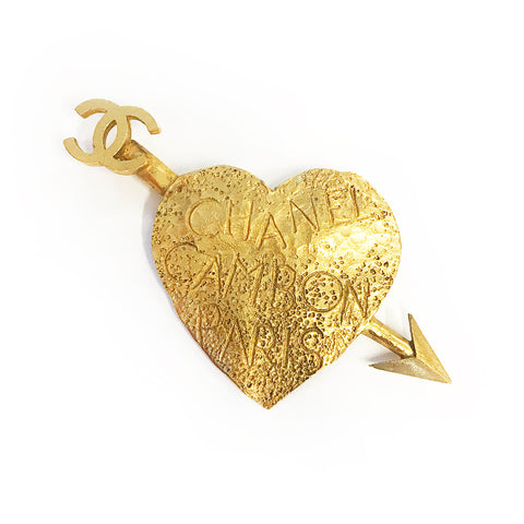 Vintage Chanel Heart Arrow Brooch