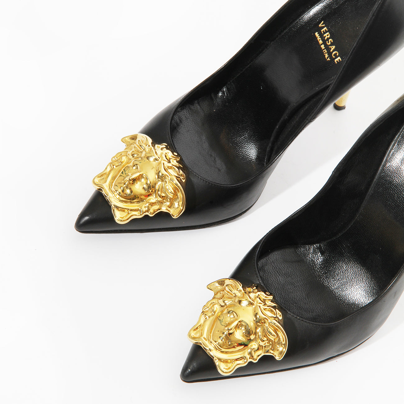 Versace Palazzo Leather Pumps