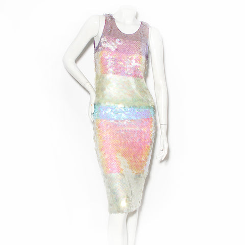 Moschino Cheap & Chic Iridescent Paillette Skirt Set
