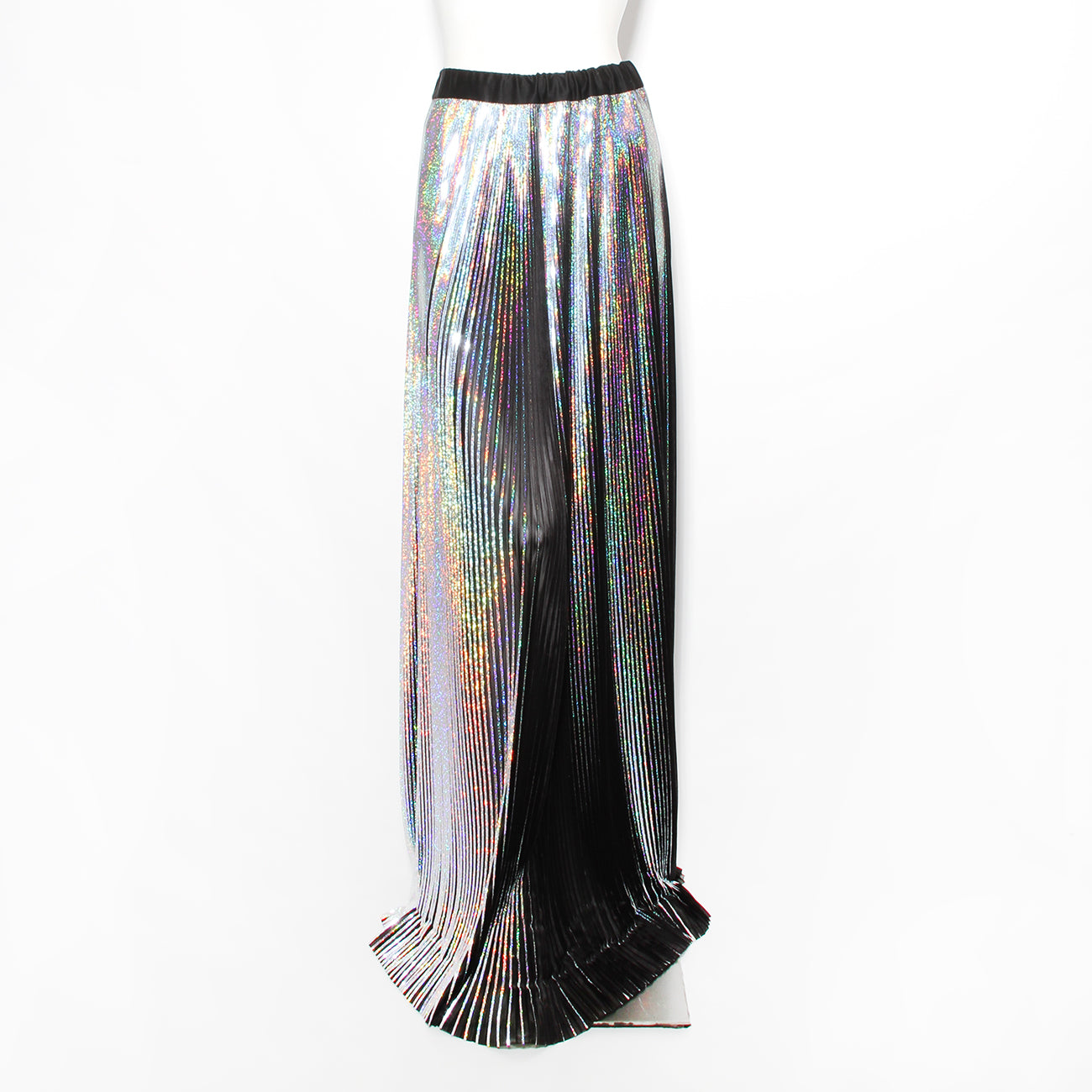 Balmain Holographic Pleated Skirt