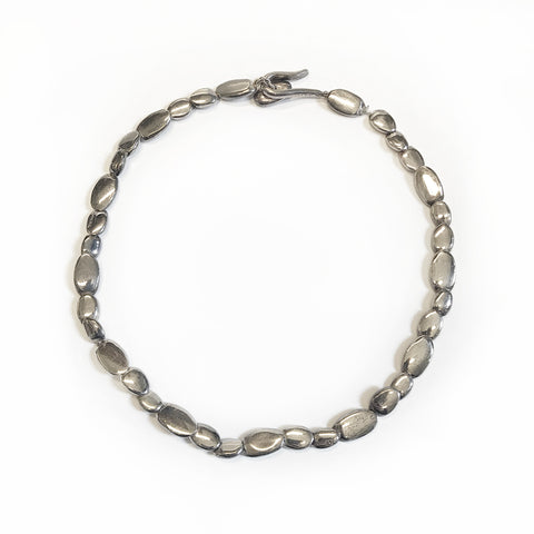 Chanel Sterling Pebble Choker