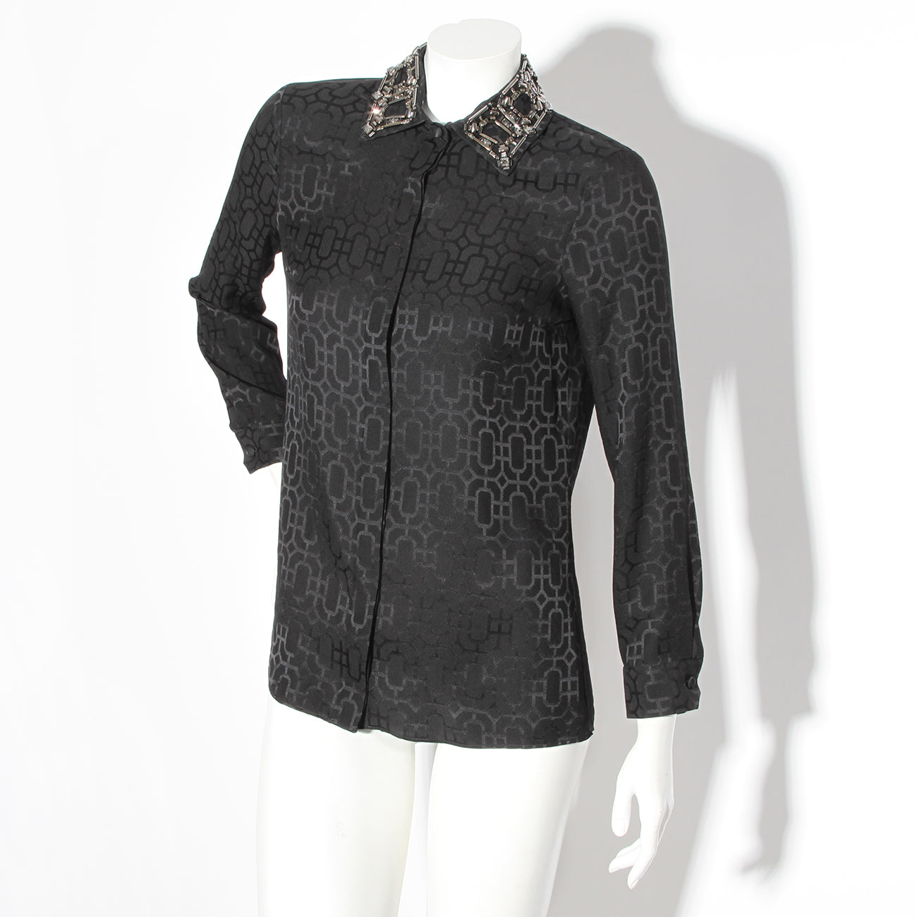 Gucci Beaded Collar Blouse