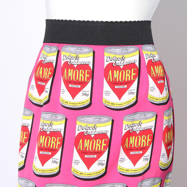 Dolce and Gabbana Soup Print Skirt