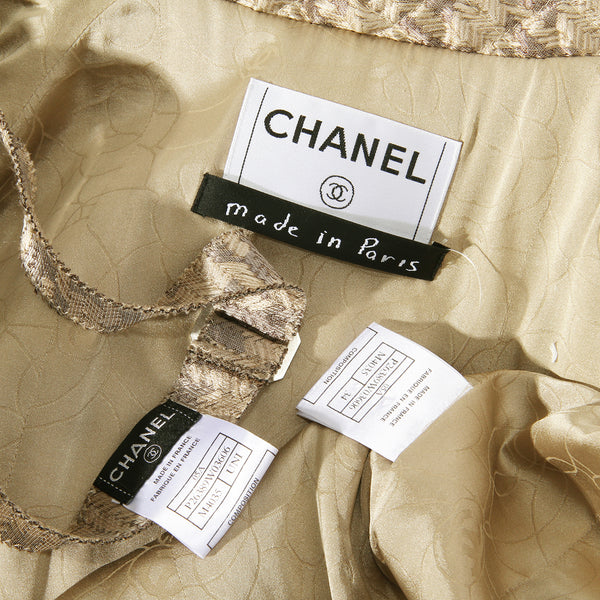 Chanel Silk Jacket with Bow Tie FW2005