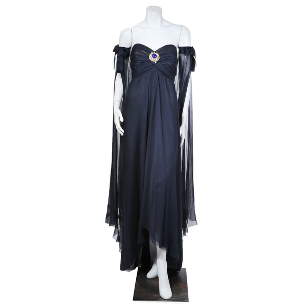 Haute couture chiffon strapless dress decades inc for Haute couture dress price