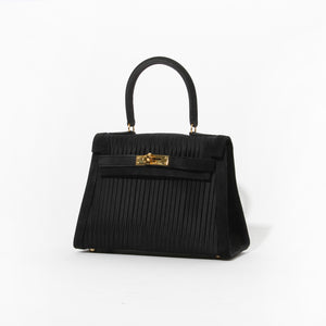 Hermes Silk and Suede Kelly Bag
