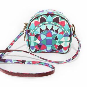Pucci Kaleidoscope Print Faux Textured Leather Crossbody Bag