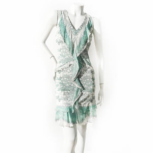Cavalli Reptile Ruffle Dress