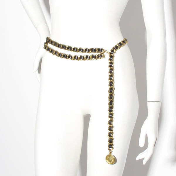 Chanel Chain and Leather Belt