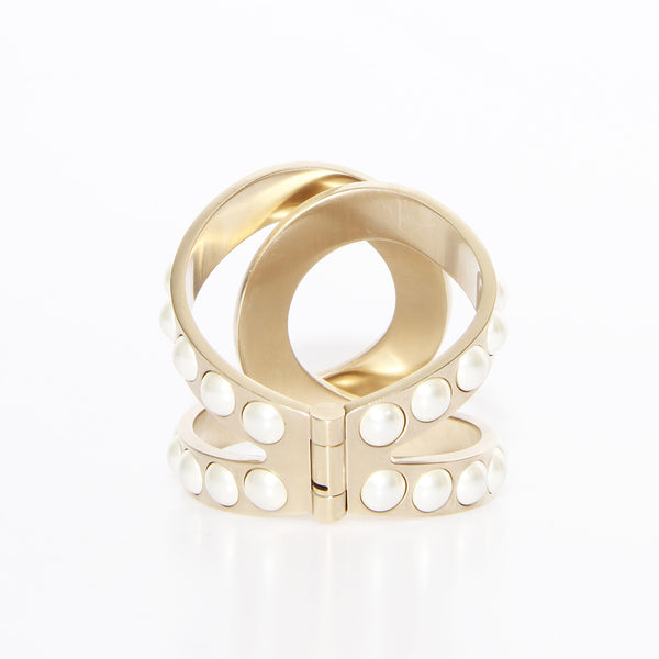 Chanel Pearl Interlocking Cuff