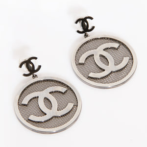 Chanel Mesh Logo Earrings