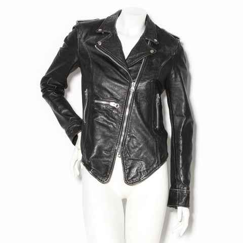 Cycle A Black Leather Motorcycle Jacket