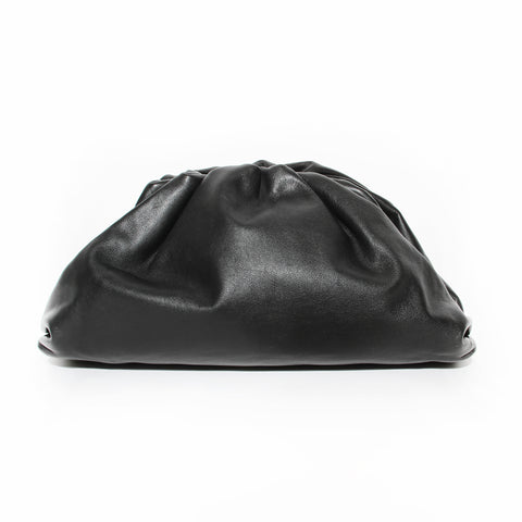 "Bottega Veneta Black Leather ""Pouch"" Clutch"