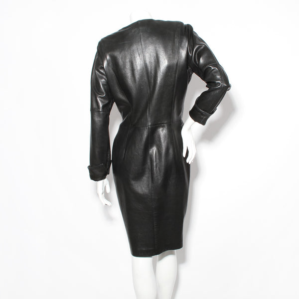 Ferre Leather and Metal Dress