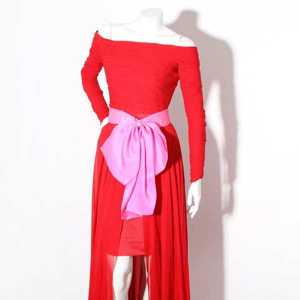 Lacroix Vintage Chiffon Dress with Attachable Skirt