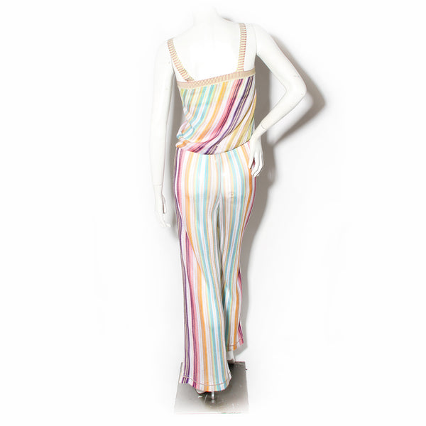 Missoni Mare Multicolor Stripe Knit Jumpsuit