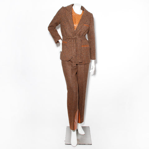 Hermes Vintage Ostrich Three Piece Suit