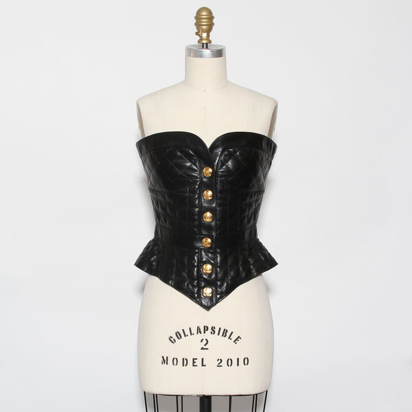 Chanel Quilted Leather Bustier