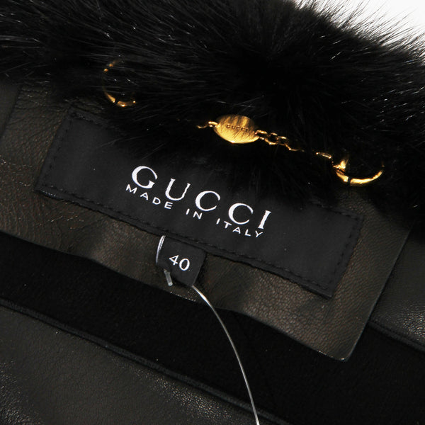 Gucci Suede and Mink Collar Jacket