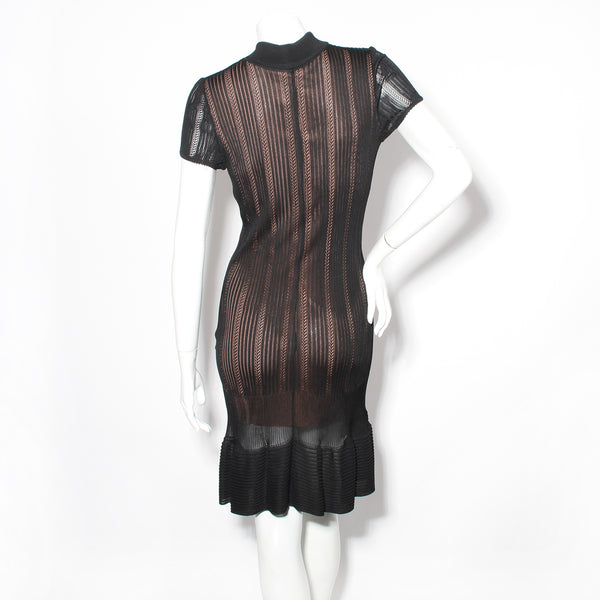 Alaia Knit Polo Dress
