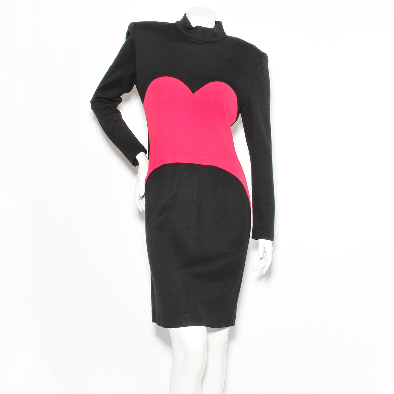 Patrick Kelly Vintage Color Block Heart Dress