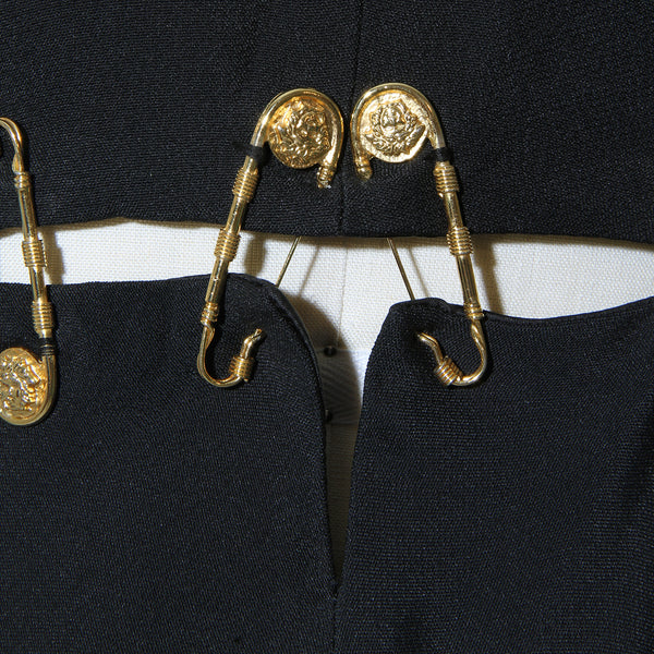 Iconic '94 Versace Safety Pin Mini Dress