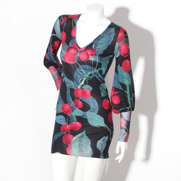 Cavalli Cherry Print Sweater