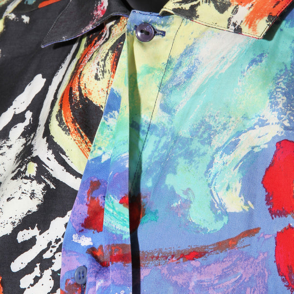 Gianni Versace Paint Print Shirt