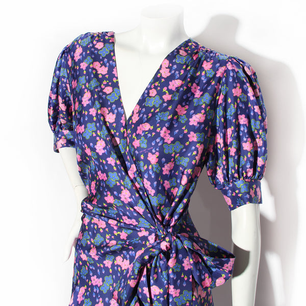 "Marc Jacobs ""Wrap Dress"" Floral Print Dress"