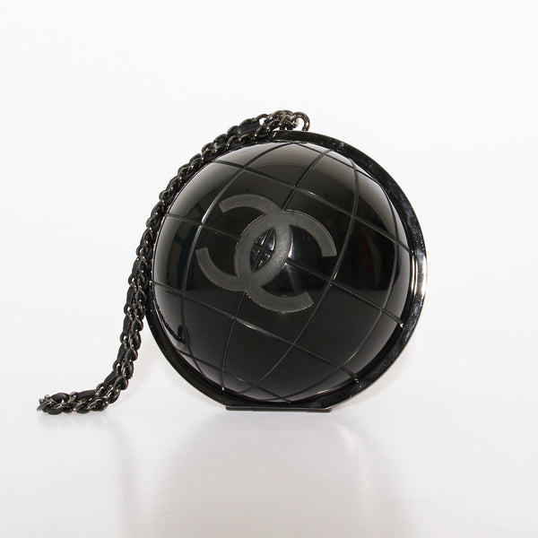 Chanel Black Globe Clutch