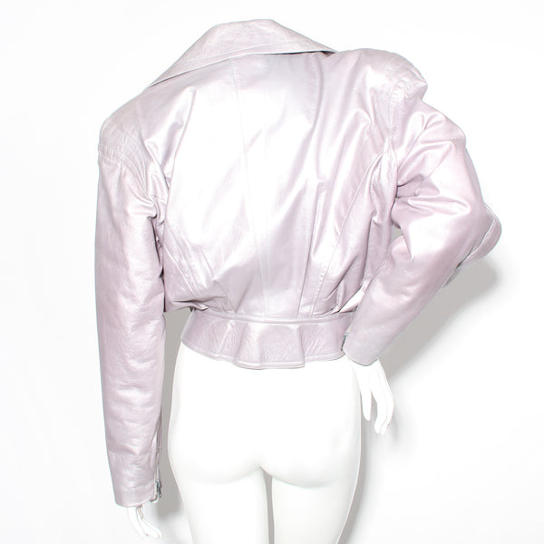 Mugler Leather Motorcycle Jacket