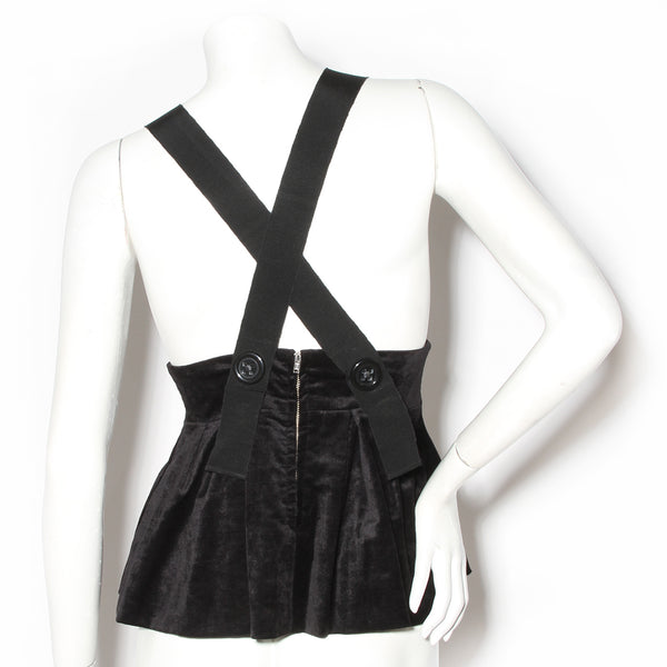 Sonia by Sonia Rykiel Black Babydoll Top with Heart and Arrow Broach