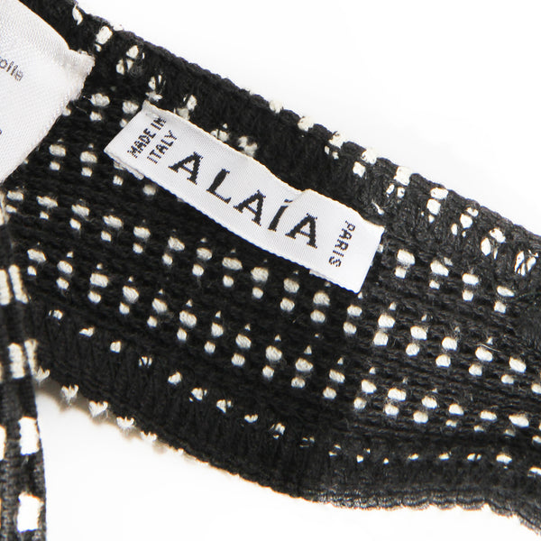 Azzedine Alaïa Black and White Bralette SS1990