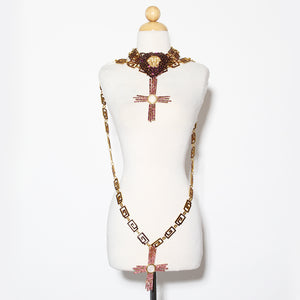 Versace Cross Heart Chain Belt