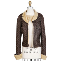 Quilted Shearling Cropped Jacket