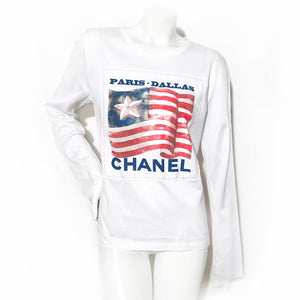 Paris-Dallas Chanel Flag Tee