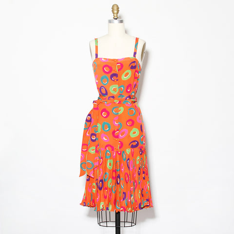 80's Ungaro Circle Sundress With Belt
