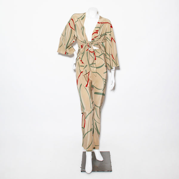 Vintage Halston Silk Printed 2-Piece Set