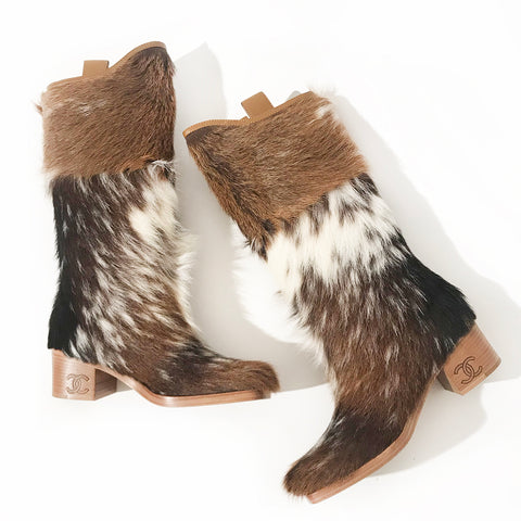 Chanel Pony Hair Boots