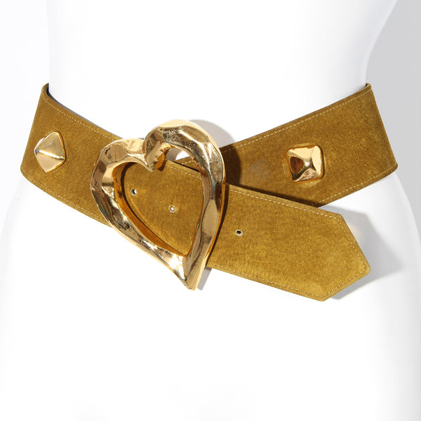 Lacroix Heart Suede Belt