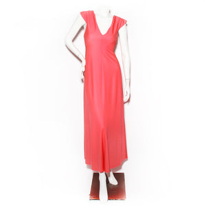 Stephen Burrows Coral Dress with Back Drape Detail