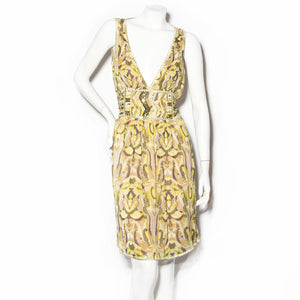 Missoni Print Chiffon Dress with Sequin Details