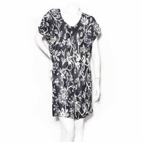 Balenciaga Floral Print Shift Dress