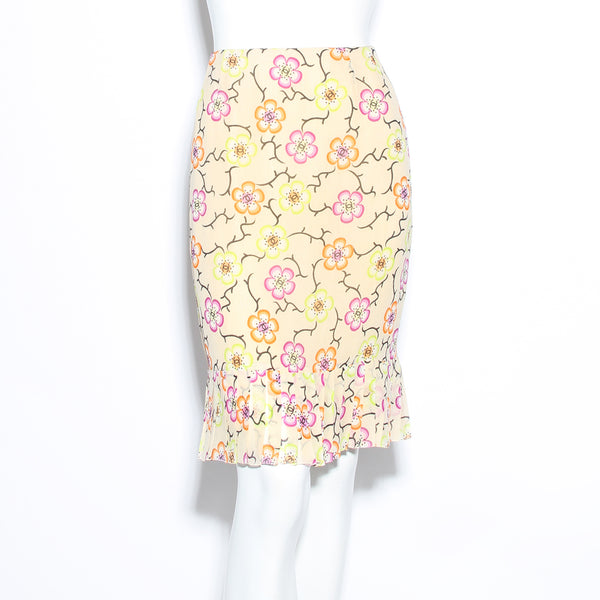 Chanel Floral Skirt