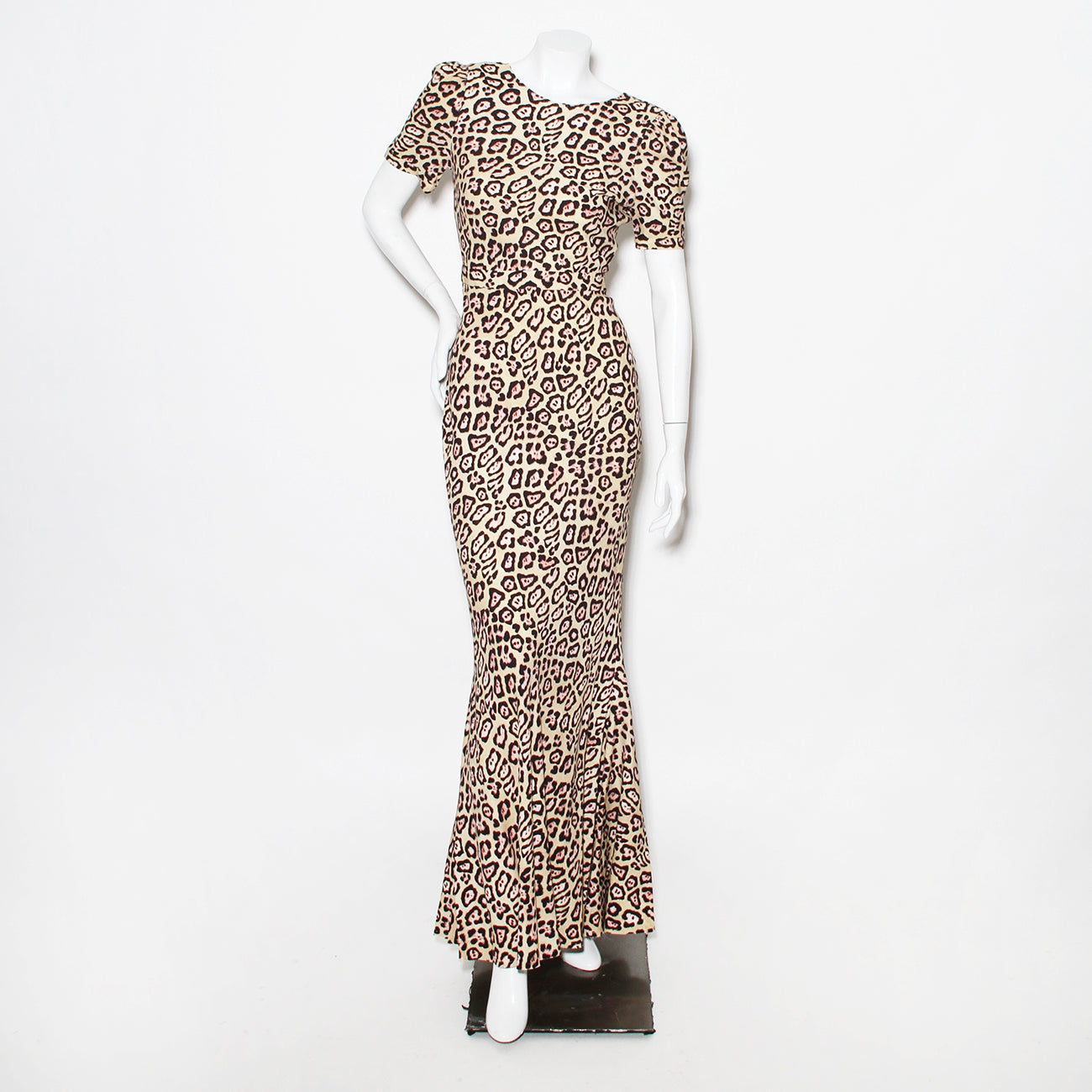 Givenchy Leopard  Low-Back Dress