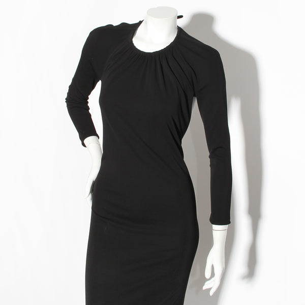 Gucci Tom Ford Long Sleeve Jersey Dress