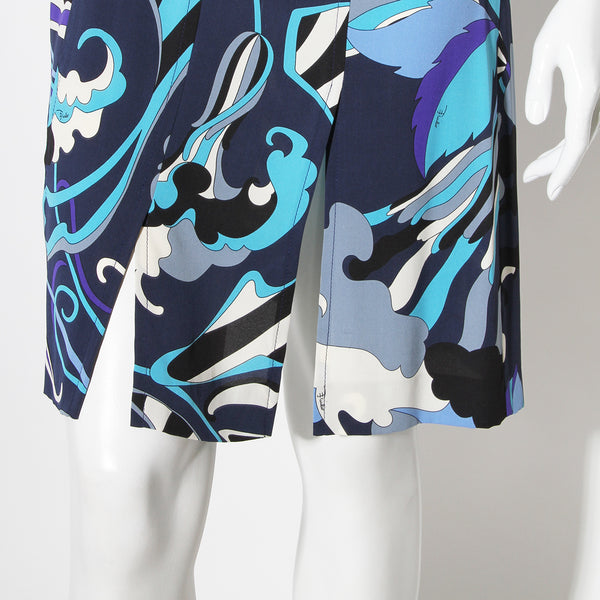Pucci Blue/White Printed Sundress