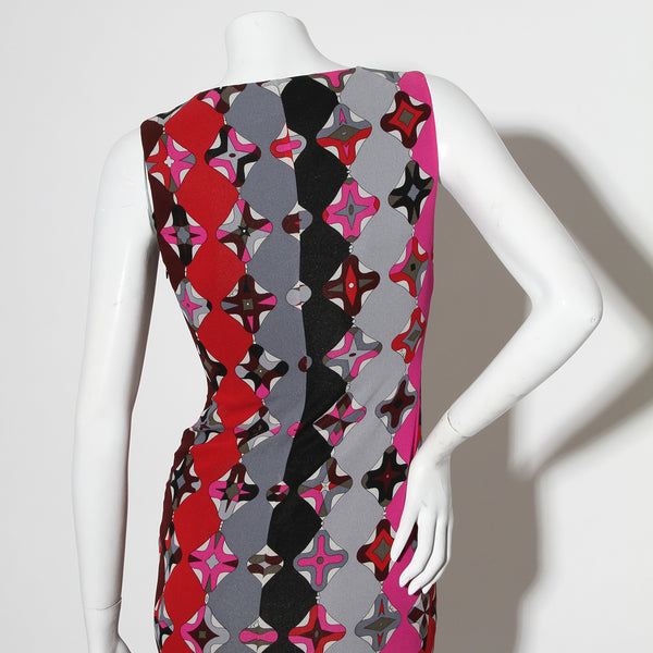 Pucci Red/Gray Printed Dress