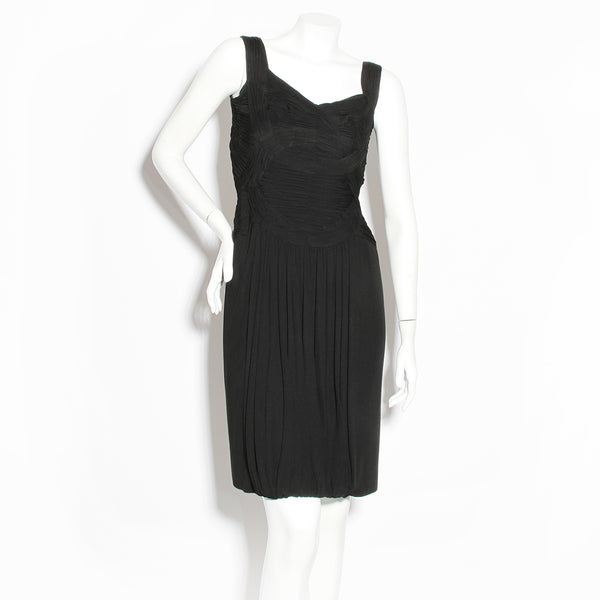 Gattinoni Pleated Jersey Dress