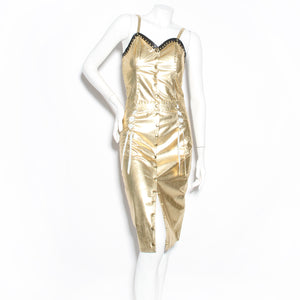 Leatheracci Gold Stud Dress